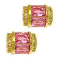 Бочонок с ярко-розовыми кристаллами, цвет золото