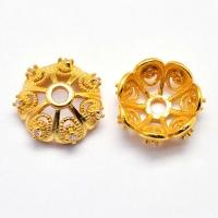 Шапочка для бусины Milano Lux, 11мм, цвет золото