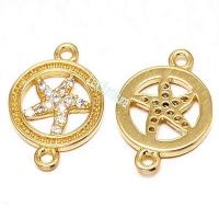 Коннектор Морская звезда в круге, цвет золото