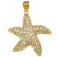 Подвеска Морская Звезда, цвет золото