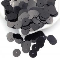 Пайетки Италия; Плоские, 10мм; цвет Чёрный Металл (9919)