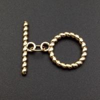 Тогл Крупный витое кольцо; 31*29мм; цвет золото
