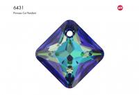 Подвеска Ромб 9мм Crystal Bermuda Blue (6431)