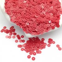 Пайетки Италия; Плоские, 4мм; глянцевый Красный (4064)