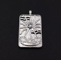 Медальон Крупный Солнце; цвет платина