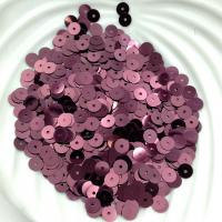 Пайетки Италия; Плоские, 5мм; цвет Бордо 4081