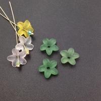 Цветок пластик, размер 11мм, зелёный