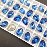 Кристалл Капля 14*10мм Sapphire