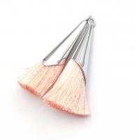 ПАРА Розовых mini кистей в гладком концевике-Подвеске; 31мм