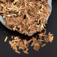 Пайетки Италия 9*2.5мм Каштановый Медный металл (8181); 3 грамма