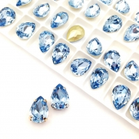 Кристалл Капля 14*10мм Light Sapphire