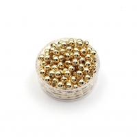 3мм - Бусины разделитель, 2 грамма (60 бусин); цвет Золото