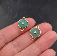 10 штук!  Фианит 6мм Sapphire, обрамлён в оправу Lux