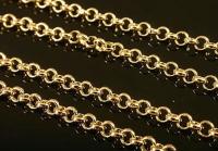 Цепочка универсальная Южная Корея, 1метр, цвет золото; звено 2.5мм