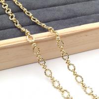 Цепочка ЛАТУНЬ, плетёный Овал 7*9мм, Южная Корея; цвет золото