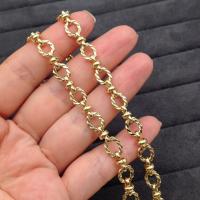 Цепочка Крупная, плетёный Овал 7*9мм, Южная Корея; цвет золото
