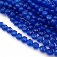 Синий Халцедон, Таблетка грани 8*6мм, 20 бусин