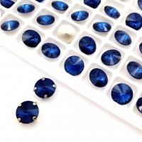 Кристалл Риволи 10мм Capri Blue