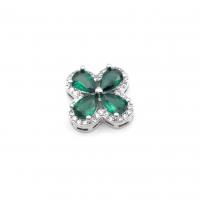 Крупная Бусина-Снежинка Фианитами, цвет золото