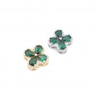 Крупная Бусина-Снежинка Фианитами, цвет платина