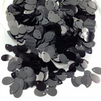 Пайетки Италия; Капля цвет Чёрный металл (9919); 3 грамма