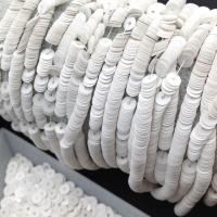 Пайетки Италия; плоские 4мм; глянец Белый (1004)