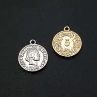 Монета 2-х сторонняя средняя 16мм; цвет золото