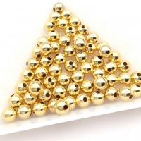 5мм - Бусины разделитель, 3 грамма (23 бусины); цвет золото
