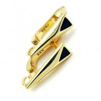 Швензы эмаль-Треугольник, цвет золото