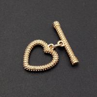 Тогл Рифлёное Сердце, 21мм; цвет золото