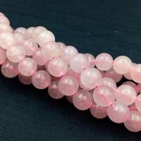 Мадагаскарский розовый Кварц A Grade; 19 бусин, 10мм