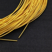 Жёсткая Канитель 0,9мм; 5гр.; Яркое Золото