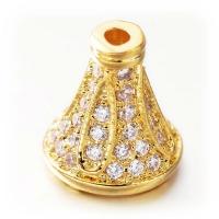 Шапочка-конус для бусины, цвет золото