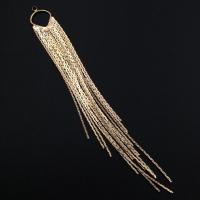 Подвеска Шторки из цепочек; 114мм, цвет золото
