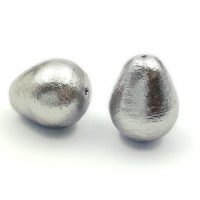 Бусина Cotton Pearl (Gray) Капля 15*20мм