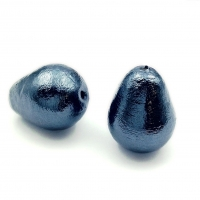 Бусина Cotton Pearl (Black) Капля 15*20мм