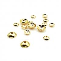 20 штук -Шапочки для бусины; гладкие, цвет золото