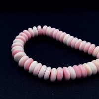 1 Бусина из Розовой раковины, 3*8мм; форма рондель
