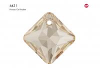 Swarovski Подвеска Ромб 16мм Crystal Golden Shadow (6431)