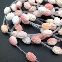Бусина Тюльпан резной 11*8мм; Розовая морская раковина, 1 бусина