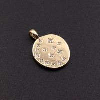 Медальон Звездопад с фианитами; цвет золото