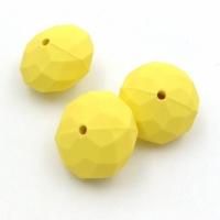 Бусина, пластик, размер 16,5*10,5мм, Южная Корея; Жёлтый
