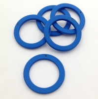 Подвеска Кольцо, пластик, размер 27мм, Южная Корея; Синий