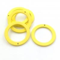 Подвеска Кольцо, пластик, размер 27мм, Южная Корея; Жёлтый