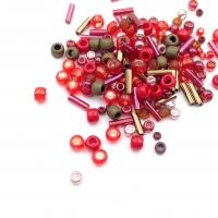 10 грамм -Бисер TOHO MIX № 3218 Красно-Бронзовый