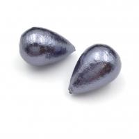 Капля Полу-просверленная Cotton Pearl, Чёрный, 16*24мм