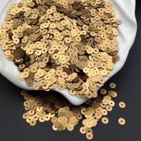Пайетки Италия; плоские 3мм; Античное Золото сатин (866w); 3 грамма