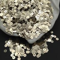 Пайетки Италия; плоские 4мм; светлое Золото металл (2001); 3 грамма