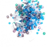 10 грамм -Бисер TOHO MIX № 3229 бело-зелёный-голубой