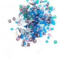 10 грамм -Бисер TOHO MIX № 3229 бело-зелёный-голубой-фиолетовый